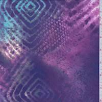 *2 YD PC--Purple Mottled Snakeskin Diamond Swimwear