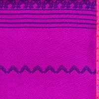 Purple Zig Zag Stripe Leno Mesh