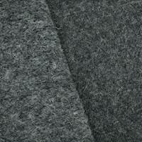 Volcano Ash Black Wool Blend Textured Brush Back Fleece Knit