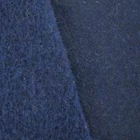 Night Navy Blue Wool Blend Sweatshirt Fleece