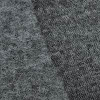 Deep Thunder Gray Wool Blend Textured Brushed Back Knit