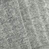Thunder Gray Texture Wool Blend Brushed Back Sweater Fleece
