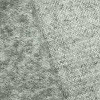 Foggy Static Gray Wool Blend Brushed Back Fleece Knit