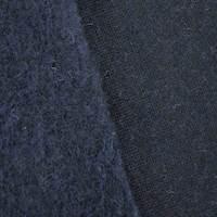 Dark Navy Blue Wool Blend Sweatshirt Fleece