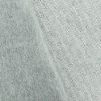 Foggy Gray/White Textured Brushed Back Fleece Knit