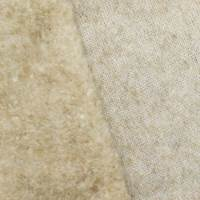 Soft Beige Wool Blend Brushed Back Fleece Knit