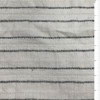 Ivory/Slate Stripe Textured Cotton Gauze