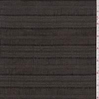 Dark Olive/Black Stripe Textured Cotton Gauze
