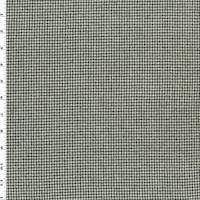 *1 3/8 YD PC--Black/Ivory Wool Houndstooth Flannel