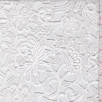 *1 YD PC--White Floral Guipure Lace
