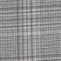 *2 1/4 YD PC--Black/Ivory/Grey Plaid Wool Suiting