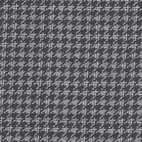 *2 5/8 YD PC--Black/White Houndstooth Plaid Wool Suiting