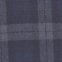 *3 3/8 YD PC--Navy/Grey Plaid Wool Blend Suiting