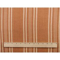 *4 YD PC--Terracotta Orange Sand Dune Stripe Home Decorating Fabric