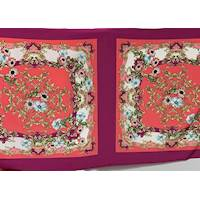 *1 PANEL--Magenta/Red Floral PANEL