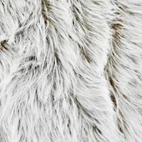 White/Caramel Brown Textured High Pile Faux Fur Decor Fabric