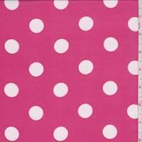 *7/8 YD PC--Raspberry Pink Polka Dot Georgette
