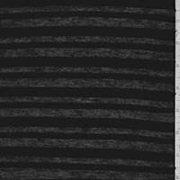Black Velour Stripe Jersey Knit