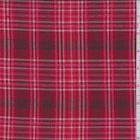 *5 1/4 YD PC--Red Hot Plaid Boucle Suiting
