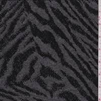 Grey/Black Zebra Jacquard Sweater Knit