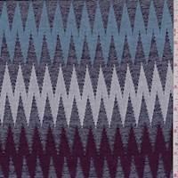 Deep Port/Sky Zig Zag Jacquard Knit