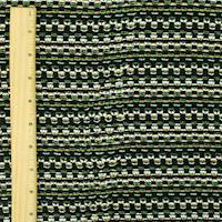 *2 YD PC--Black/Neon/Multi Dobby Stripe Texture Jacketing