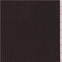 *2 3/4 YD PC--Chocolate Brown Stripe Stretch Velvet