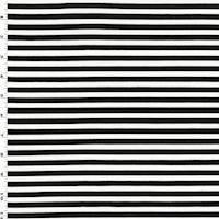 *2 5/8 YD PC--Black/White Ponte Knit