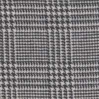 *5 YD PC--Black/Ivory Plaid Wool Suiting