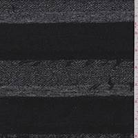 Black Eyelash Stripe Jacquard