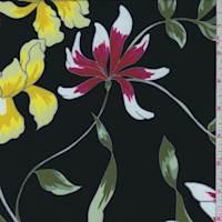 Black/Yellow Iris Crepe