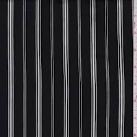 Black/White Stripe Jersey Knit