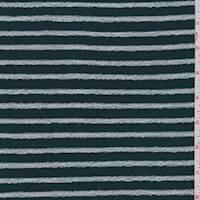Hunter Green Stripe Slubbed Sweater Knit