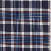 Navy/Royal Plaid Flannel