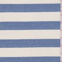 *3 YD PC--Cream/Blue Stripe Cotton