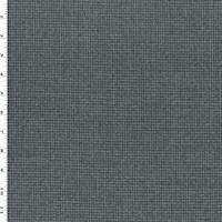 *5 YD PC--Navy/Black/Gray Wool Blend Micro Glen Plaid Suiting