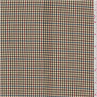 *1 1/4 YD PC--Tan Plaid Suiting