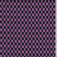 *3 YD PC--Fuchsia Pink/Black Check Suiting