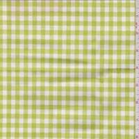 *1 1/4 YD PC--Avocado Gingham Check Cotton