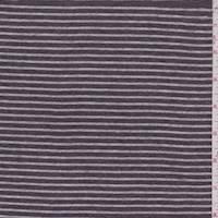 Heather Brown Stripe Jersey Knit