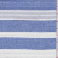 Blue/White Twill Dobby Stripe Shirting