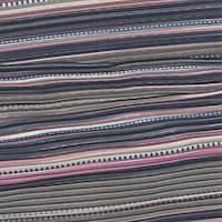 Sage Multi Stripe Pleated Satin Charmeuse