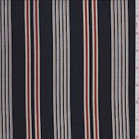 Black/Tan Stripe Crepe Georgette