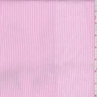 Baby Pink/White Pinstripe Rayon Challis
