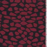 Black/Ruby Heart Sweater Knit