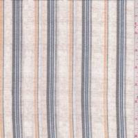 Oatmeal Multi Stripe Peachskin