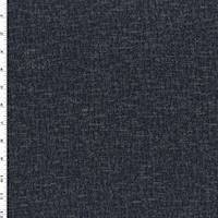 *1 7/8 YD PC--Black/Navy/Grey Double Knit Wool Blend Jacketing