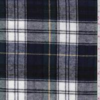 *2 5/8 YD PC--Navy Tartan Plaid Flannel