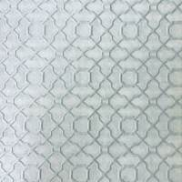 *6 5/8 YD PC-Fainted Teal Quatrefoil Cloque Home Decorating Fabric