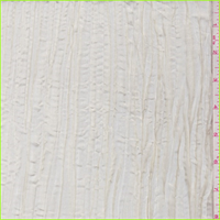 *3 YD PC--Pearl Ivory Crushed Polyester Taffeta